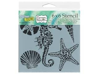 scrapbooking & paper crafts: The Crafter's Workshop Template 6 x 6 in. Sea Creatures