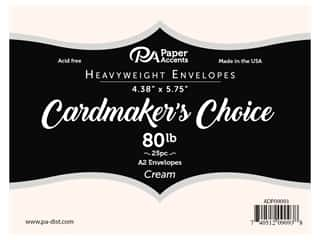Paper Accents Cardmakers Choice 4 3/8 x 5 3/4 in. A2 Envelopes Cream 25 pc.