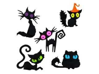 novelties: Jesse James Embellishments - Creeped Out Cats