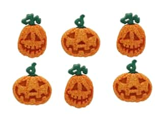 craft & hobbies: Jesse James Dress It Up Embellishments Button Halloween Collection Glitter Pumpkins