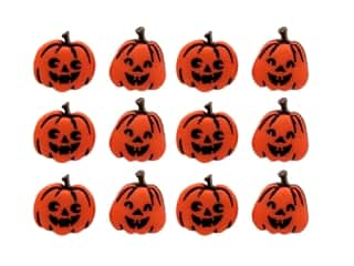 craft & hobbies: Jesse James Dress It Up Embellishments Halloween Collection Jack O' Lanterns
