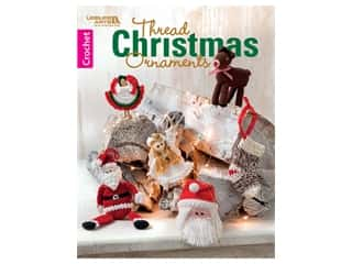books & patterns: Leisure Arts Thread Christmas Ornaments Crochet Book