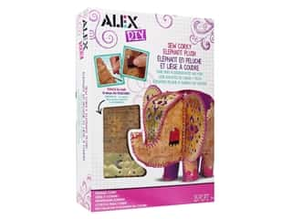 craft & hobbies: Alex Kit DIY Sew Corky Elephant Plush