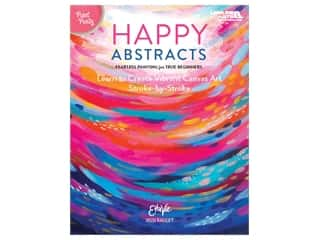 Leisure Arts Paint Party Happy Abstracts Book