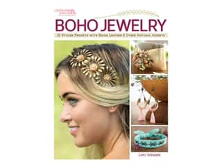 beading & jewelry making supplies: Leisure Arts Boho Jewelry Book