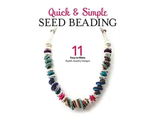 beading & jewelry making supplies: Leisure Arts Quick Simple Seed Beading Book