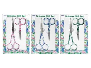 Allary Scissors Sets 5.5 in. /3.75 in. Floral Assorted 2 pc