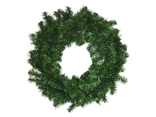 novelties: Darice Canadian Pine Christmas Wreath 24 in.