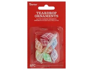 craft & hobbies: Darice Ornament Teardrop Plastic l.25 in. 8 pc