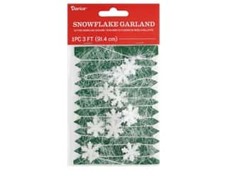 craft & hobbies: Darice Garland Snowflake Plastic Transparent Glitter 36 in.