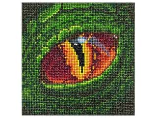"beading & jewelry making supplies: Diamond Art Kit 8""x 8"" Sparkle Emerald Dragon"
