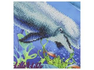 craft & hobbies: Diamond Art Kit 8 in. x 8 in. Sparkle Dolphin