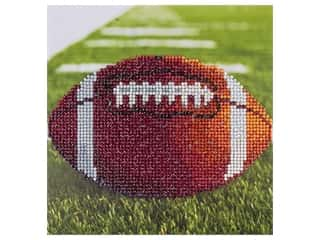diamond art: Diamond Art Kit 8 in. x 8 in. Sparkle Football