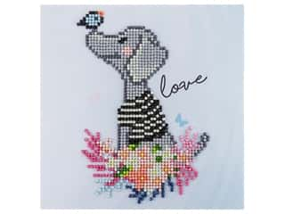 decorative bird: Diamond Art Kit 8 in. x 8 in. Sparkle Doggie Love
