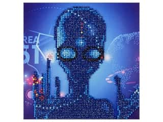 "diamond art: Diamond Art Kit 8 in. x 8"" Sparkle Alien"