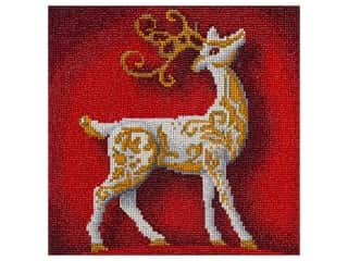 craft & hobbies: Diamond Art Kit 12 x 12 in. Full Drill Holiday Reindeer