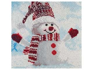 craft & hobbies: Diamond Art Kit 12 in. x 12 in. Full Drill Holiday Snowman