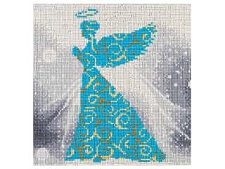 craft & hobbies: Diamond Art Kit 12 in. x 12 in. Full Drill Holiday Angel