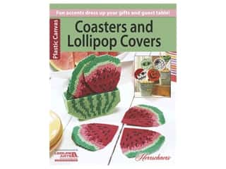 yarn & needlework: Leisure Arts Coasters & Lollipop Covers Plastic Canvas Book
