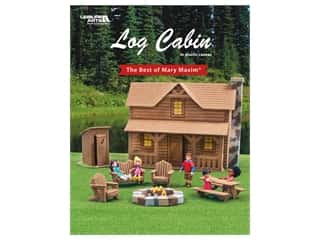 yarn & needlework: Leisure Arts The Best Of Mary Maxim Log Cabin Plastic Canvas Book