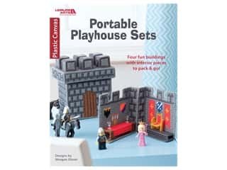 yarn & needlework: Leisure Arts Portable Playhouse Sets Plastic Canvas Book