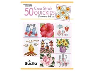 Leisure Arts 50 Cross Stitch Quickies Flowers Book