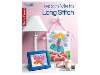 yarn & needlework: Leisure Arts Teach Me To Long Stitch Plastic Canvas Book