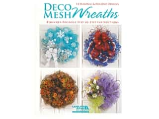 books & patterns: Leisure Arts Deco Mesh Wreaths Book