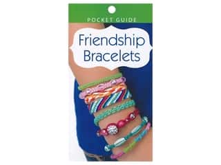 beading & jewelry making supplies: Leisure Arts Friendship Bracelets Pocket Guide Book