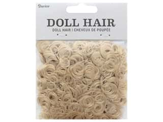 craft & hobbies: Darice Doll Hair Curly Strawberry Blond 13 mm