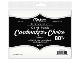 Paper Accents Cardmakers Choice 4 1/4 x 5 1/2 in. Blank Cards Landscape White 25 pc.