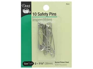 elastic: Safety Pins by Dritz 1 1/2 in. Nickel 10 pc.