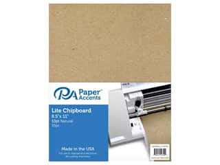 "Paper Accents Chipboard 8.5""x 11"" Thin 10pt 35pc Natural"