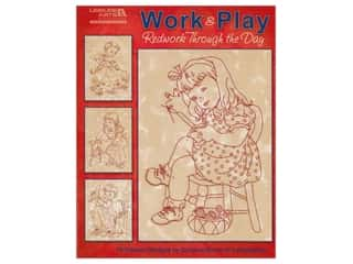 Leisure Arts Work & Play Redwork Through the Day Book