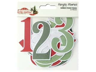 Simple Stories Collection Country Christmas Number Pocket Pieces