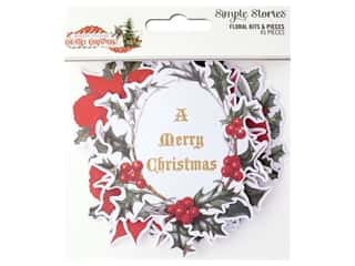 Simple Stories Collection Country Christmas Bits & Pieces Floral