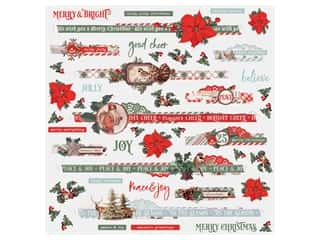 Simple Stories Collection Country Christmas Sticker 12 in. x 12 in. Border (12 pieces)