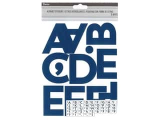 Darice Sticker Large Alpha/Number 2.5 in. Navy 148 pc