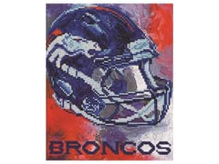 beading & jewelry making supplies: Diamond Art Kit 10 in. x 12 in. Intermediate NFL Team Denver Broncos