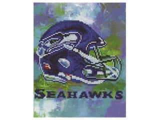 craft & hobbies: Diamond Art Kit 10 in. x 12 in. Intermediate NFL Team Seattle Seahawks