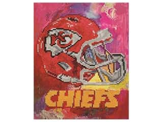 craft & hobbies: Diamond Art Kit 10 in. x 12 in. Intermediate NFL Team Kansas City Chiefs