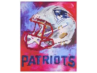 beading & jewelry making supplies: Diamond Art Kit 10 in. x 12 in. Intermediate NFL Team New England Patriots