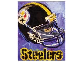 craft & hobbies: Diamond Art Kit 10 in. x 12 in. Intermediate NFL Team Pittsburgh Steelers
