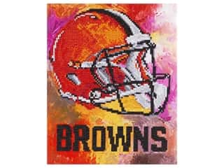 craft & hobbies: Diamond Art Kit 10 in. x 12 in. Intermediate NFL Team Cleveland Browns
