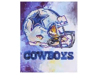 beading & jewelry making supplies: Diamond Art Kit 10 in. x 12 in. Intermediate NFL Team Dallas Cowboys