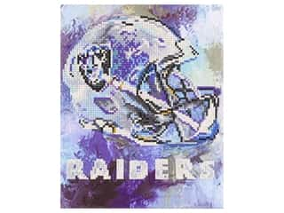 beading & jewelry making supplies: Diamond Art Kit 10 in. x 12 in. Intermediate NFL Team Oakland Raiders