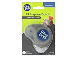 glues, adhesives & tapes: Glue Dots Permanent 3/8 in. Dispenser Disposable 125 pc