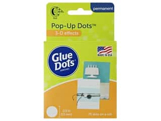 glues, adhesives & tapes: Glue Dots Roll Pop Up 1/2 in. 75 pc.