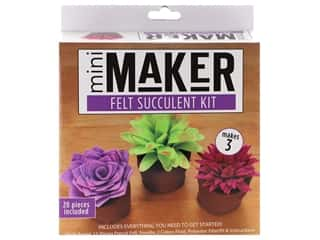 Leisure Arts Mini Maker Felt Succulent Kit - Multi