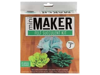 yarn & needlework: Leisure Arts Mini Maker Felt Succulent Kit - Green
